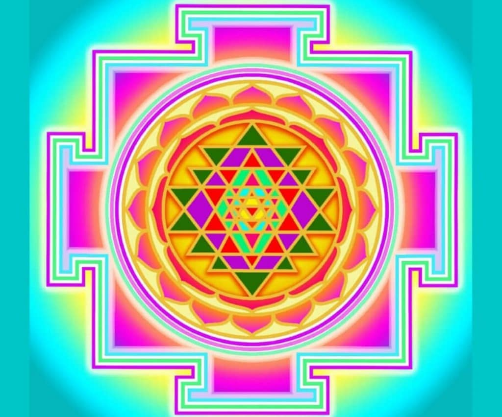 Sri yantra sello tántrico